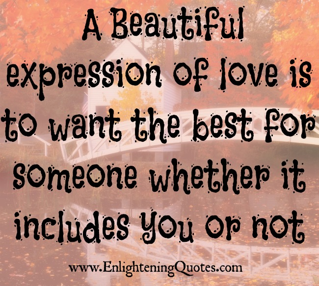 A beautiful expression of love