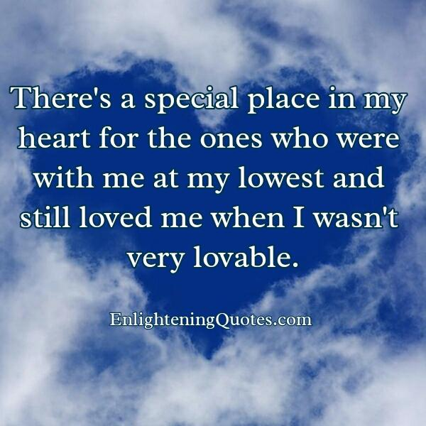 A special place in your heart for someone