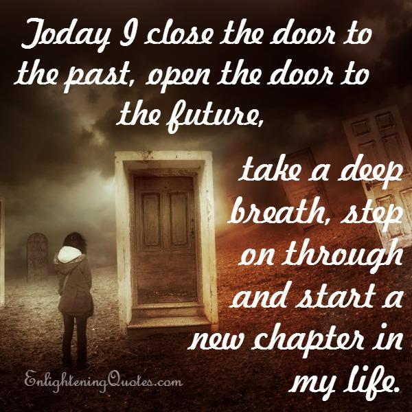Close the door of your past