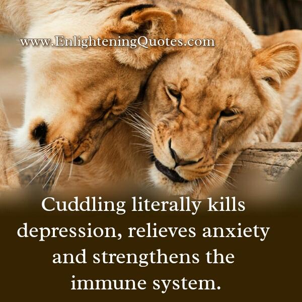 Cuddling literally kills depression