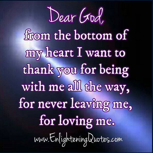 Dear God, From the bottom of my Heart