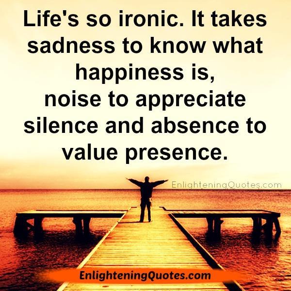 Life's so ironic