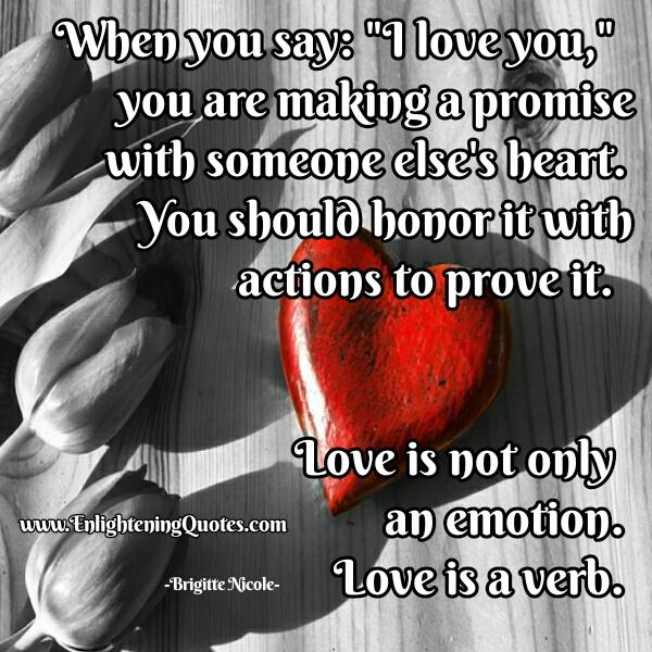Love is not only an emotion