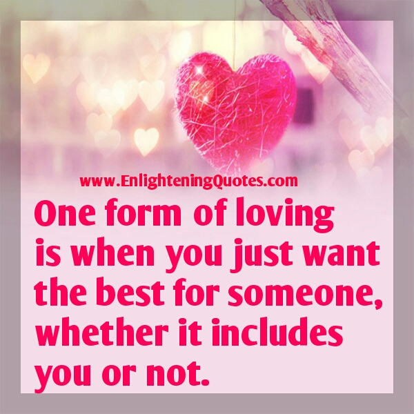 One form of loving
