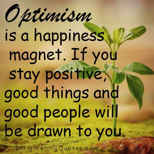 Optimism is a happiness magnet
