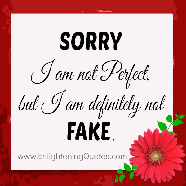 Sorry! I am not perfect