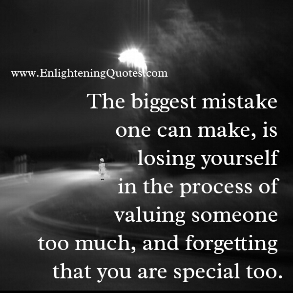 The Biggest mistake one can make in life