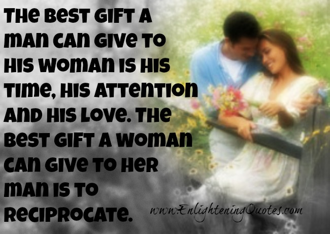 The best gift a man and woman can give to each other