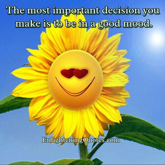 The most important decision you make
