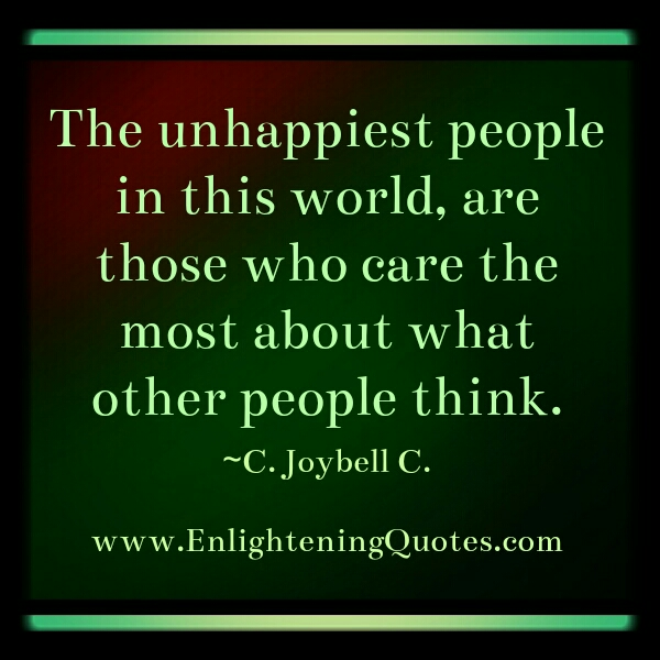 The most unhappiest people in the world