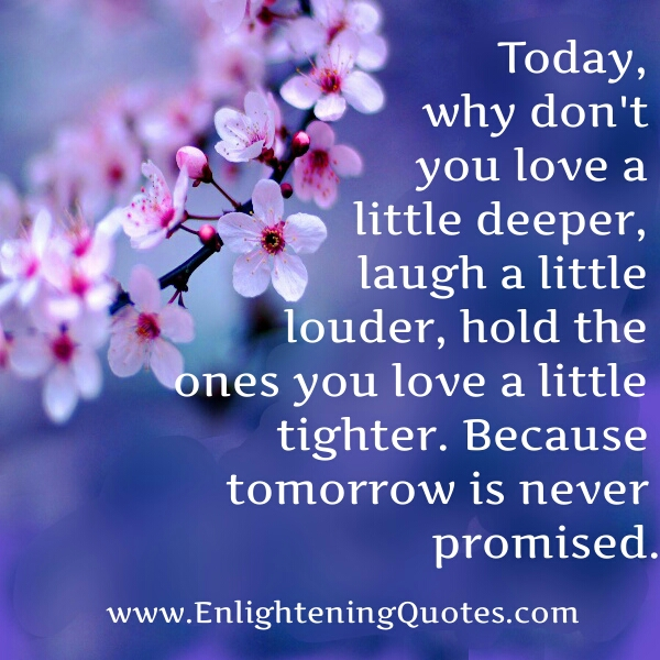 Why don't you love a little deeper today?