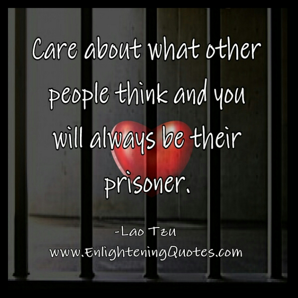 care about what other