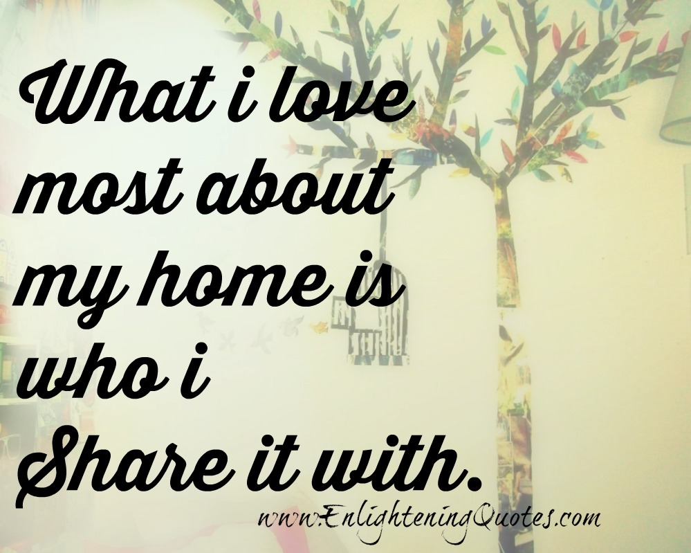 what you love most about your home